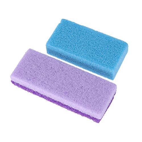 Artibetter 2pcs pierre ponce pierre de lave outils de pédicure dissolvant peau dur calleux (couleur aléatoire)