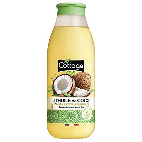 COTTAGE – Douche Huile Précieuse Huile De Coco 560Ml – Lot De 3 – Livraison Gratuite