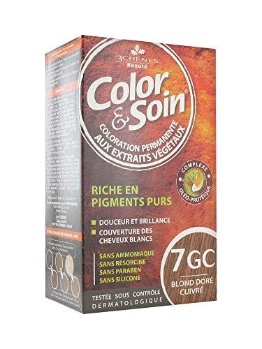 Les 3 Chênes Color et Soin Coloration Femme – Blond Doré Cuivré : 7GC