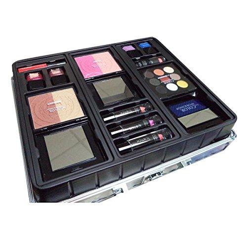 Markwins–Color Workshop MALETIN Argent 43Lapices lèvres + coloretes + Vernis à Ongles + Ombres à Paupières Femme