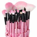 OUDE Start_wuvi Lot de 6 pinceaux de maquillage avec manche pour sourcils, eyeliner, cils, lèvres (violet)