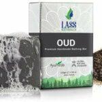 Savon de bain Glamorous Hub Lass Naturals Oud Savon de bain aux herbes aux huiles essentielles de qualité thérapeutique 125 G (paquet de 4) Soins de la peau (l'emballage peut varier)