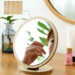 WQF Miroir à Main pour Coupe de Cheveux, Miroir de Maquillage de Voyage, Parfait pour Les Voyages et la Maison, Miroir de Salon de beauté, pour Commode cosmétique de Chambre à Coucher, Miro