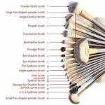 18PCS Set Pinceaux Maquillage avec Sac De Rangement Pinceaux à Maquillage Professionnel Pinceaux Maquillages pour Fond De Teint, Blush, fard à Paupières Poils Synthetiques Doux et Sans Cruauté