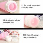 3pcs bouteilles de distributeur de silicone portables avec ventouse pour maquillage conditionneur de cheveux lotion portable réutilisable(粉色)