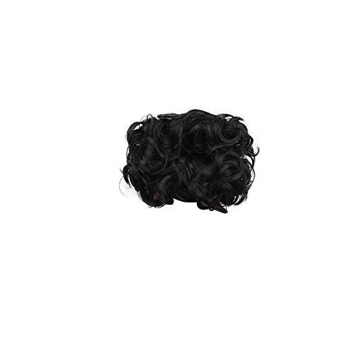 Chignon court Messy bouclés Plat Chignon Ponytail Extension Scrunchie Chignon Plateau Ponytail Piece perruque de cheveux postiches pour les femmes noires 1pc