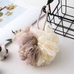 Mydee Fleurs de bain – Fleur de Douche Lot de 4 Puff de Bain Éponge de Douche (A)