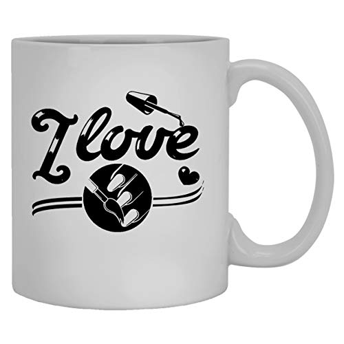 NA Tasses Blanches d'artiste d'ongle – Tasse de café en céramique J'aime Les Ongles