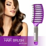 Brosse à poil de sanglier Kaiercat® – Meilleure pour démêlage de cheveux épais et démêlant pour séchage plus rapide – Poil de sanglier 100% naturel pour Distribution d'huile de cheveux (Violet)