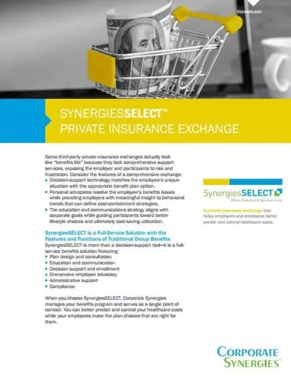 SynergiesSELECT | Private Exchange with Decision Support by Corporate Synergies