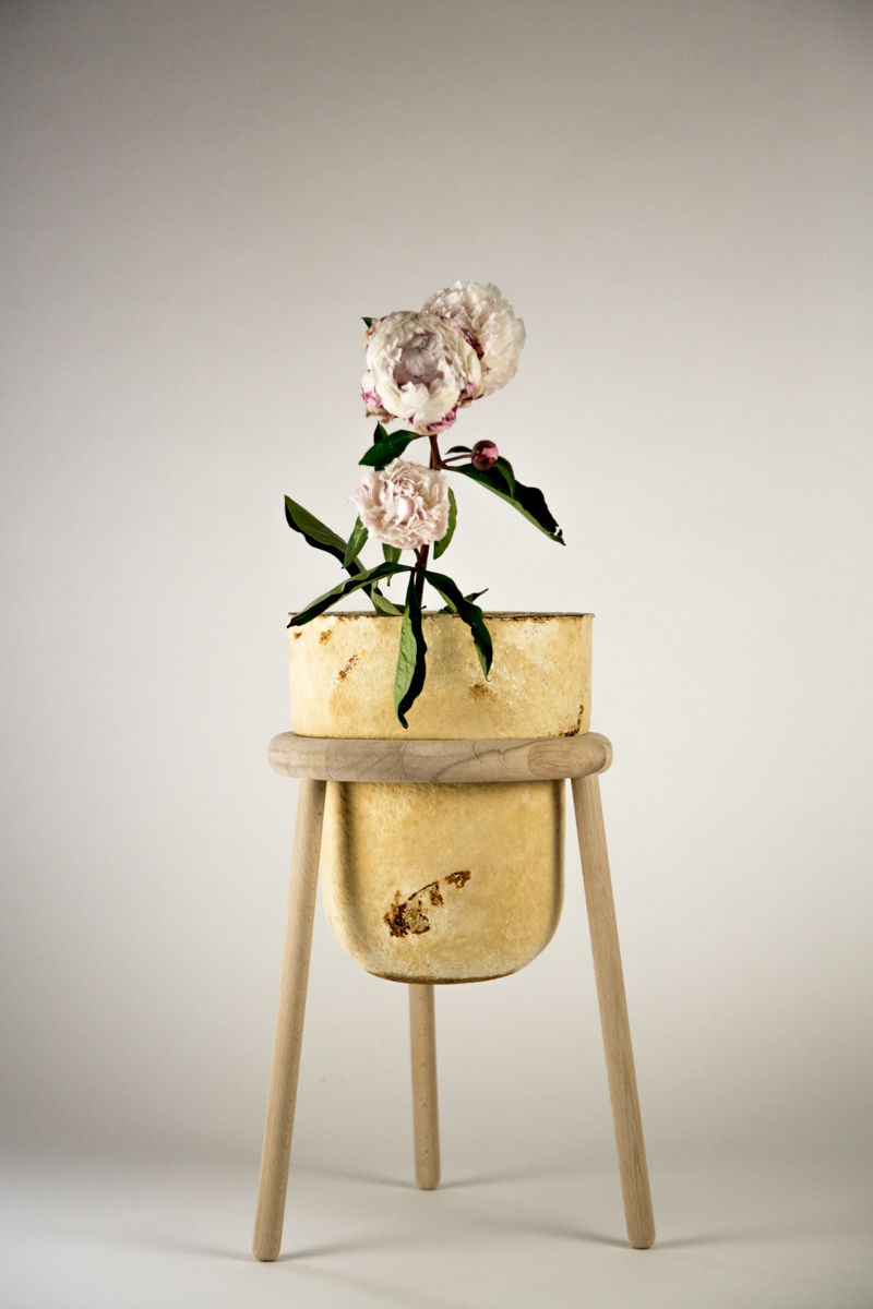 The Growing Lab - Mycelia ©Officina Corpuscoli | Maurizio Montalti - mycelium vase pedistal flower1