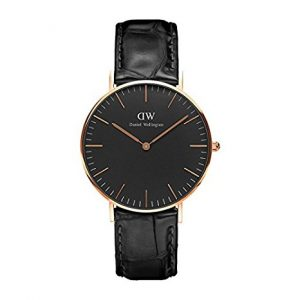 DANIEL WELLINGTON - BLACK CLOCK FACE, orologi eleganti uomo