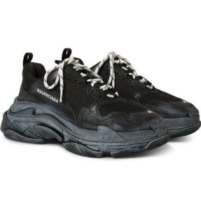 "BALENCIAGA SNEAKERS ""TRIPLE S AIR"" IN PELLE WASHED 60MM"