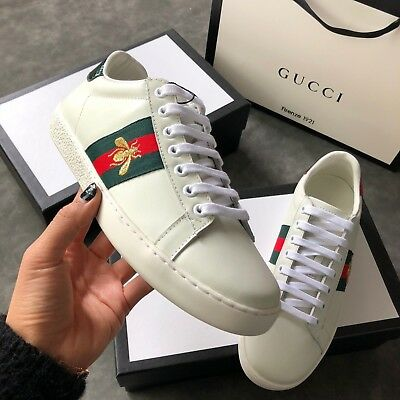 """GUCCISNEAKERS """"NEW ACE"""" IN PELLE E AYER,  gucci shoes"""