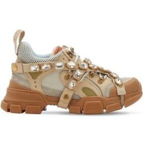 "GUCCI shoes  women-""FLASHTREK"" BEIGE"