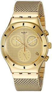 Swatch Orologio Cronografo Quarzo Unisex con Cinturino in Acciaio Inox YCG410GA