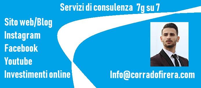 consulenze digitali, instagram, youtube, sito web