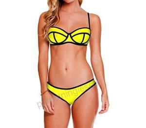 Costume Bikini MWS Ahead MOD Neo Effetto 3D con Coppa Imbottita - Swimwear Mare