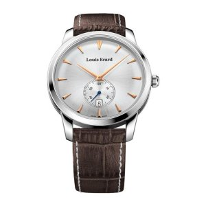 Louis Erard Men's 42mm Chronograph Brown Calfskin Quartz Watch 13900AA11.BDC101, orologi uomo eleganti