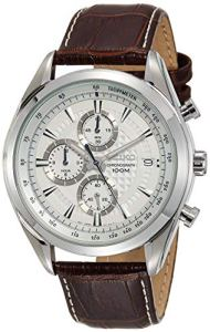 Seiko Orologio Cronografo al Quarzo Uomo con Cinturino in Pelle SSB181P1, orologi uomo eleganti