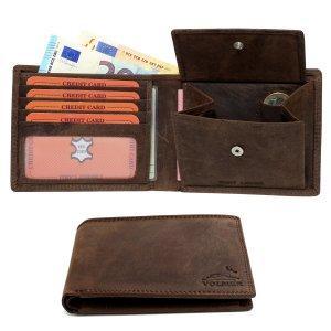 Elegante Portafoglio in pelle di bufalo particolarmente comodo facile e stabile effetto usato e vintage RFID Blocking #Easycomfort (Iron), portafogli per uomo