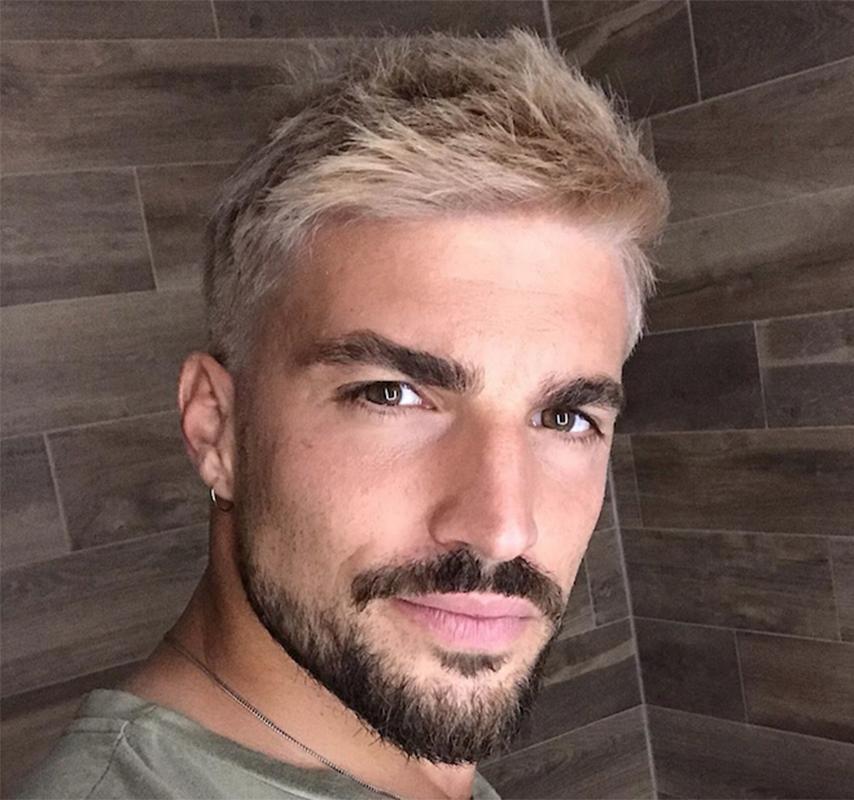taglio di capelli uomo, tendenze, moda, mariano di vaio, nuovo look, nuovo taglio di capelli di mariano di vaio, biondo platino