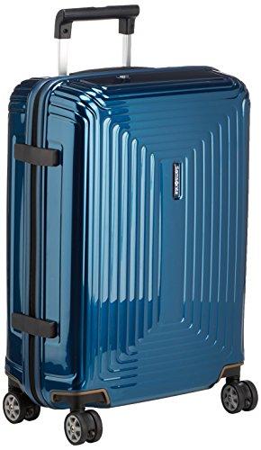 Samsonite Neopulse Bagaglio a Mano , 4 ruote Spinner 55 centimetri cabina, blu metallico, valigie da viaggio