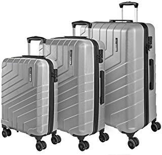 Valigia Trolley da Viaggio Rigida - Idonea Ryanair e Easyjet 55x40x20 cm 44 Litri - Bagaglio a Mano Ultra Leggero in ABS con Chiusura TSA e 4 Ruote Doppie Girevoli - Perletti Travel (Argento, S), valigie da viaggio