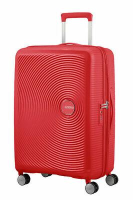 American Tourister Soundbox Spinner Small Expandable Bagaglio A Mano, 55 cm, 41 Liters, Rosso (Coral Red), VALIGIE DA VIAGGIO, TROLLEY