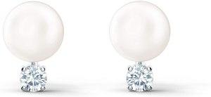 Swarovski Orecchini Treasure Pearl, Bianco, Placcato Rodio