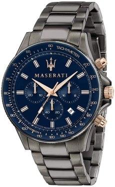 Maserati Orologio da uomo, Collezione Sfida, in Acciaio, PVD Canna di fucile, con cinturino in Acciaio inossidabile - R8873640001