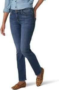 Lee Regular Fit Straight Leg Jean Jeans Donna
