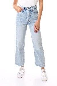 Levi's Jeans Ribcage Straight Donna Medium Blue a Vita Alta 726930055 29/27
