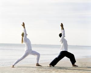 Chiva-Som Yoga on Beach