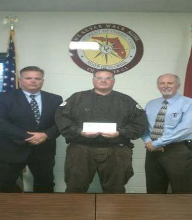 Asst. Warden Severson, Sgt. Ortiz-Cruz, Asst. Warden Johnson