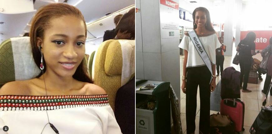 Most beautiful Girl in Nigeria (MBGN) 2017 winner, Ugochi Ihezue, departs Nigeria for Miss World pageant in China (Photos)