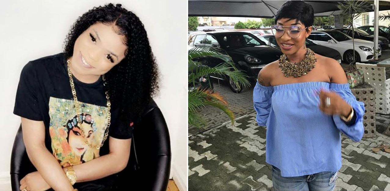 """People wanna use your name as stepping stone, they don't want to work hard the way you did""- Bobrisky says to Tonto Dikeh"