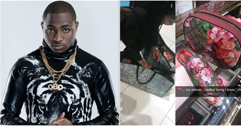 Davido takes an unidentified woman for shopping at a Gucci Store, calls her 'my woman' – (Photos)