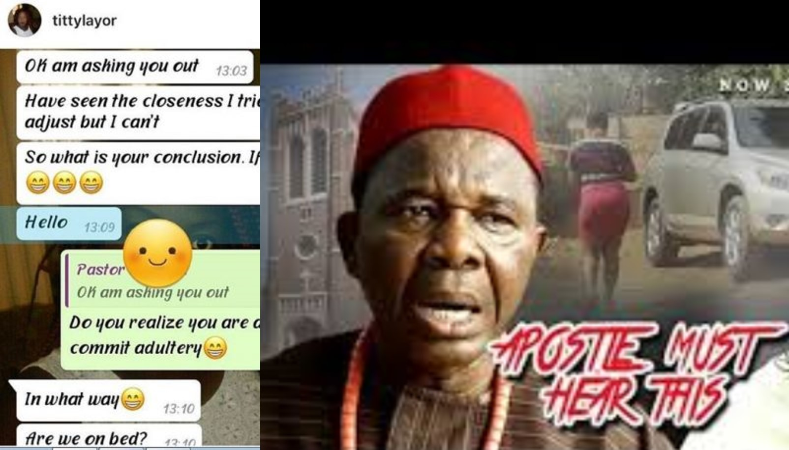 Apostle must hear of this – Married lady shares screenshots of chats with her married pastor who is asking her out