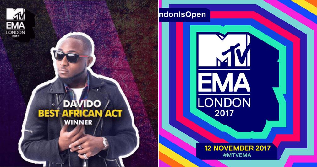 Davido breaks down in tears after he was unveiled MTV Best African Act 2017, dances one corner (Video)