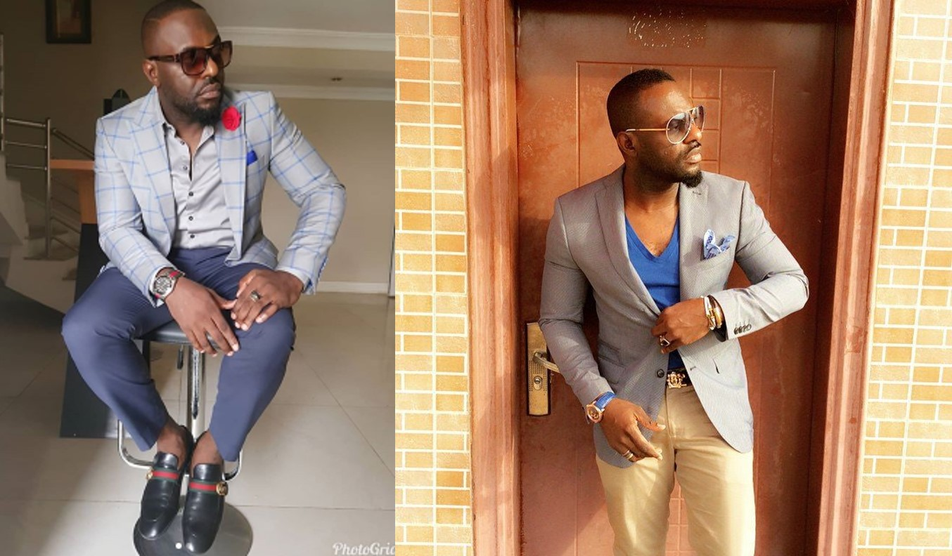 Jim Iyke blows hot with two followers who accused him of wearing fake Gucci