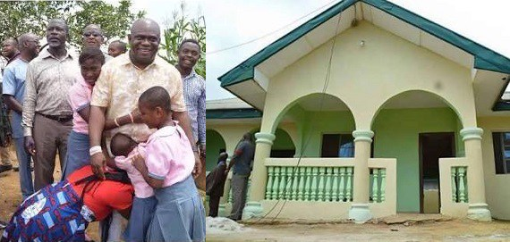 Primary school best graduating student gets new house as gift in Port-Harcourt (Photos)