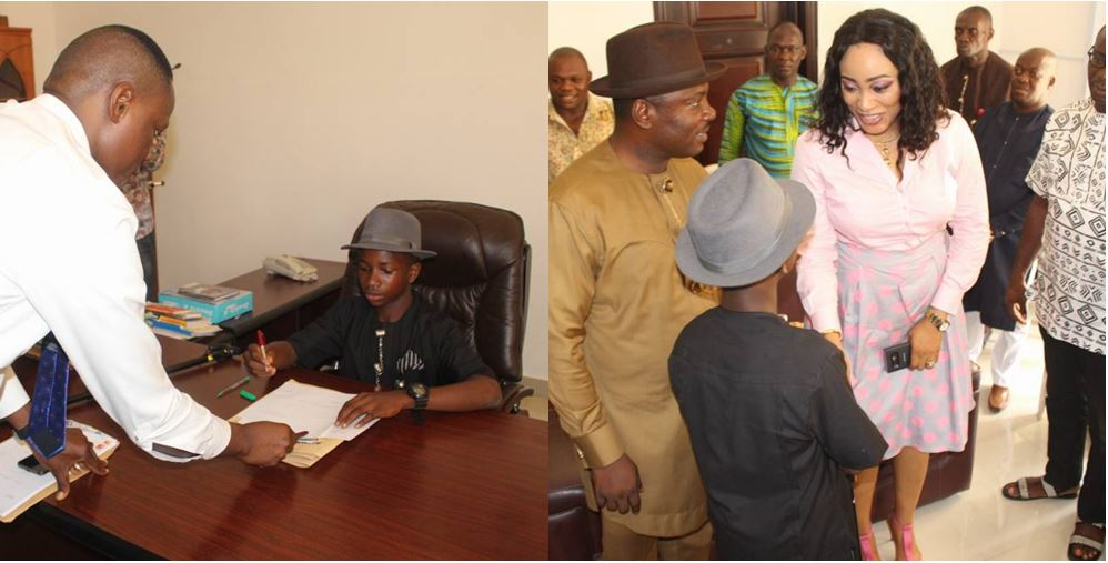 14-Year-Old Becomes Commissioner In Bayelsa State (Photos)