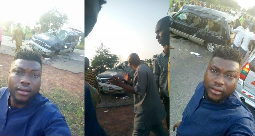 Man narrates how a driver died in an accident few minutes after shouting at him for complaining about his reckless driving (Photos/Video)