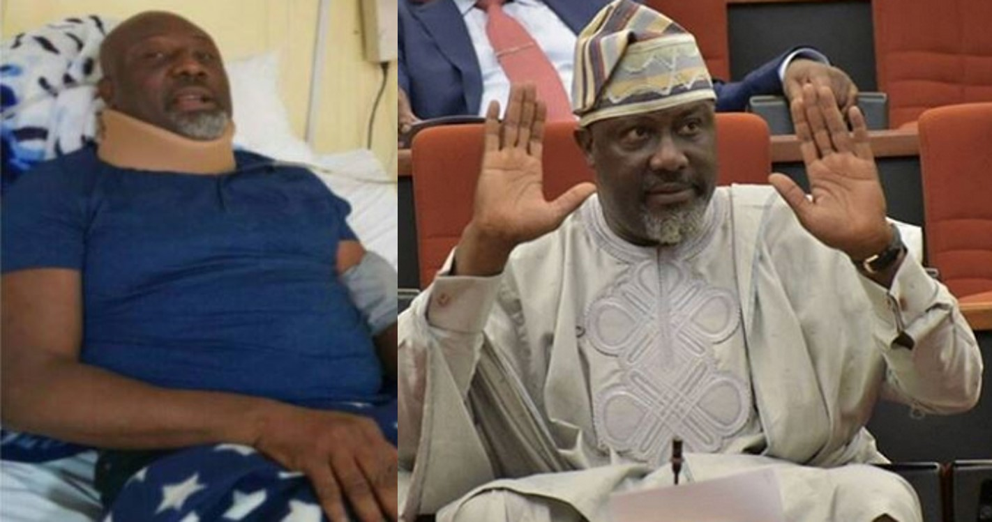 Dino Melaye shares photo from hospital bed, and open letter to Nigerians