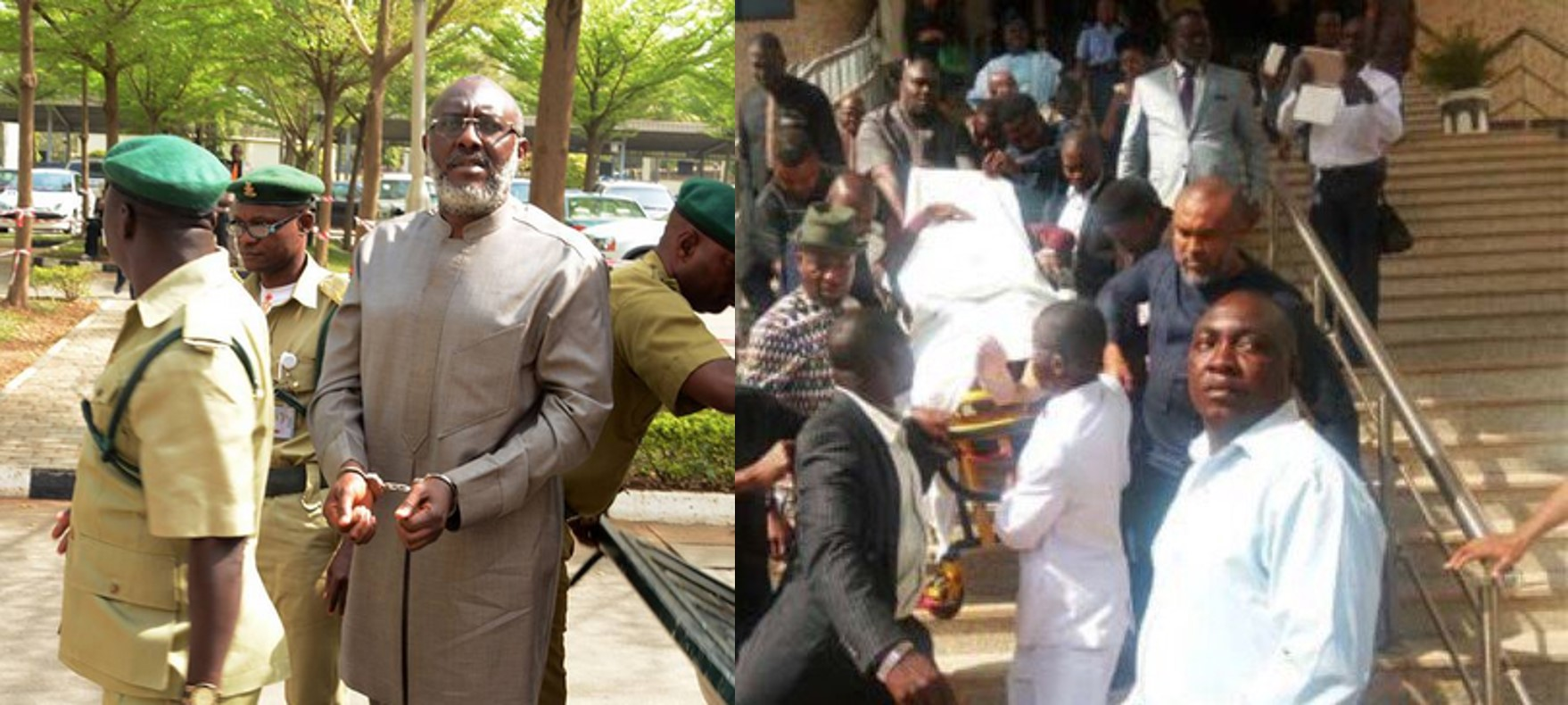 Olisa Metuh Collapses in Court (Photos)