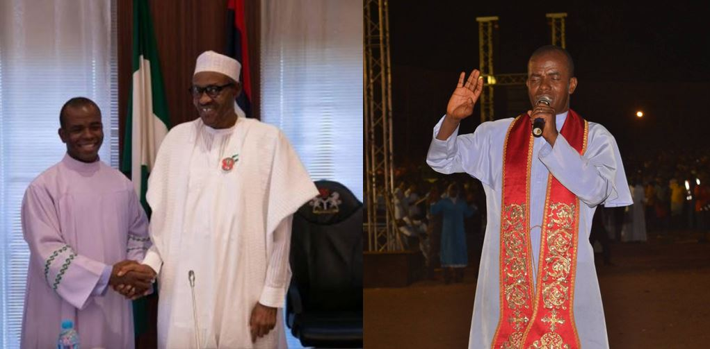 Rev. Father Mbaka attacks President Buhari, says there is a disaster coming for him (Video)