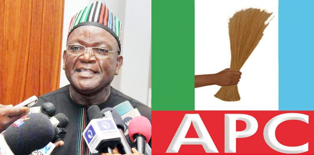 Defection Palava: Stop deceiving Benue people – APC tells Ortom, reveals he has illegally been deducting state funds