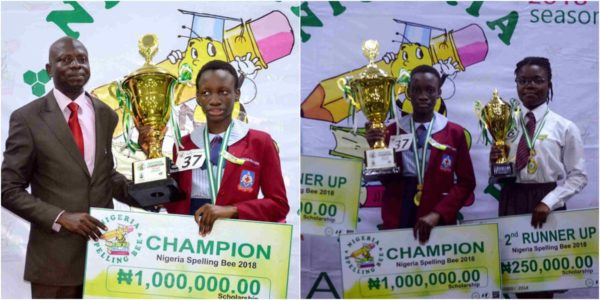 Image result for Miss Keren Chigozie-Nnah Wins Nigeria Spelling Bee 2018 Season