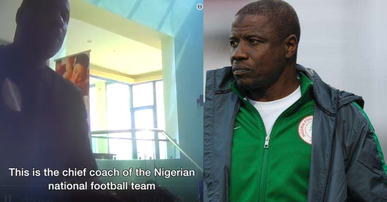 Super Eagles chief coach caught taking bribe of N360,000 to select players for tournament (Video)